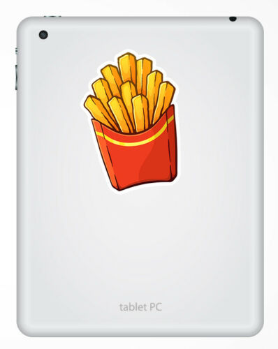 Sticker Car Luggage Travel Gift #19238 2 x 10cm Fries Chips Fun Vinyl Stickers