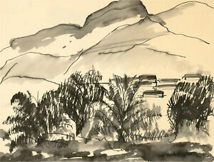 Don-Hemming-Contemporary-Pen-and-Ink-Drawing-Landscape