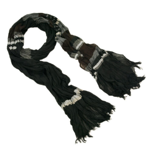 Different Colors Available Premium Multi Striped Ruffle Scarf