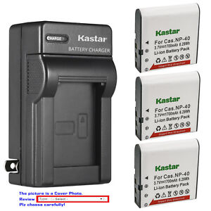 Kastar-Battery-Wall-Charger-for-Casio-NP-40-CNP40-amp-Casio-Exilim-EX-FC100-Camera