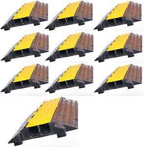 Baustellengeräte & -ausrüstung 2x 2 Kanal Feuerwehr Thw Schlauchbrücke Kabelbrücke Überfahrrampe Überfahrschutz Kabel, Leitungen & Stecker
