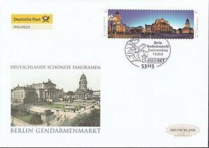 BRD 2013 Deutsche Post FDC MiNr. 2987-2988 selbstklebend Gendarmenmarkt Berlin
