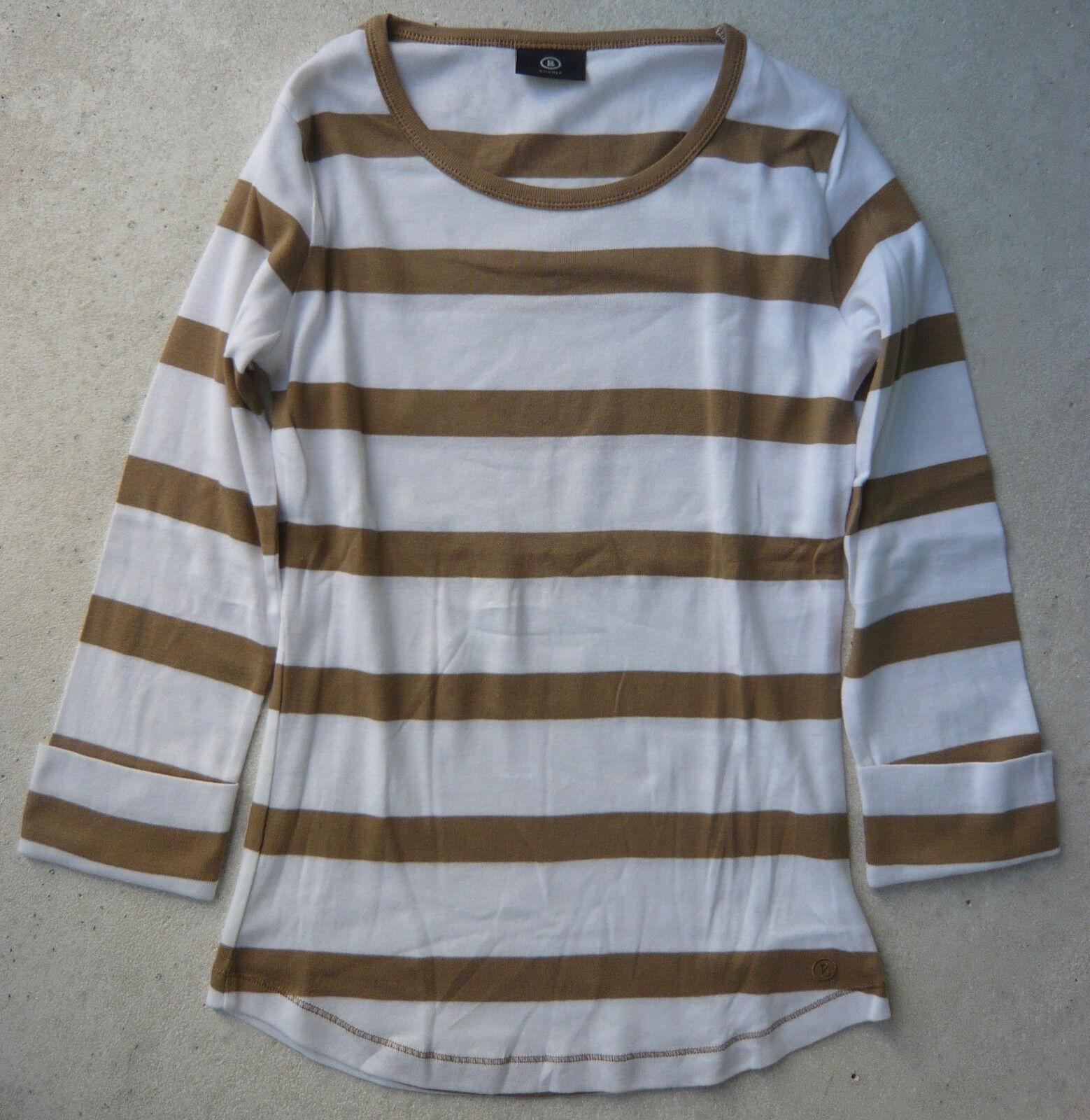 3b31e65c59ec4a Bogner Bogner Bogner T-Shirt 3 4arm Gr. 38 Baumwolle weiss camel gestreift  Rundhals Damen | Zahlreiche In Vielfalt | Perfekte Verarbeitung 2c6a10