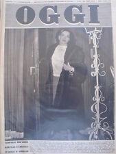 OGGI n°5 1950 Eva Peron Marcella De Marchis Nozze Principessa Jolanda [GS27]