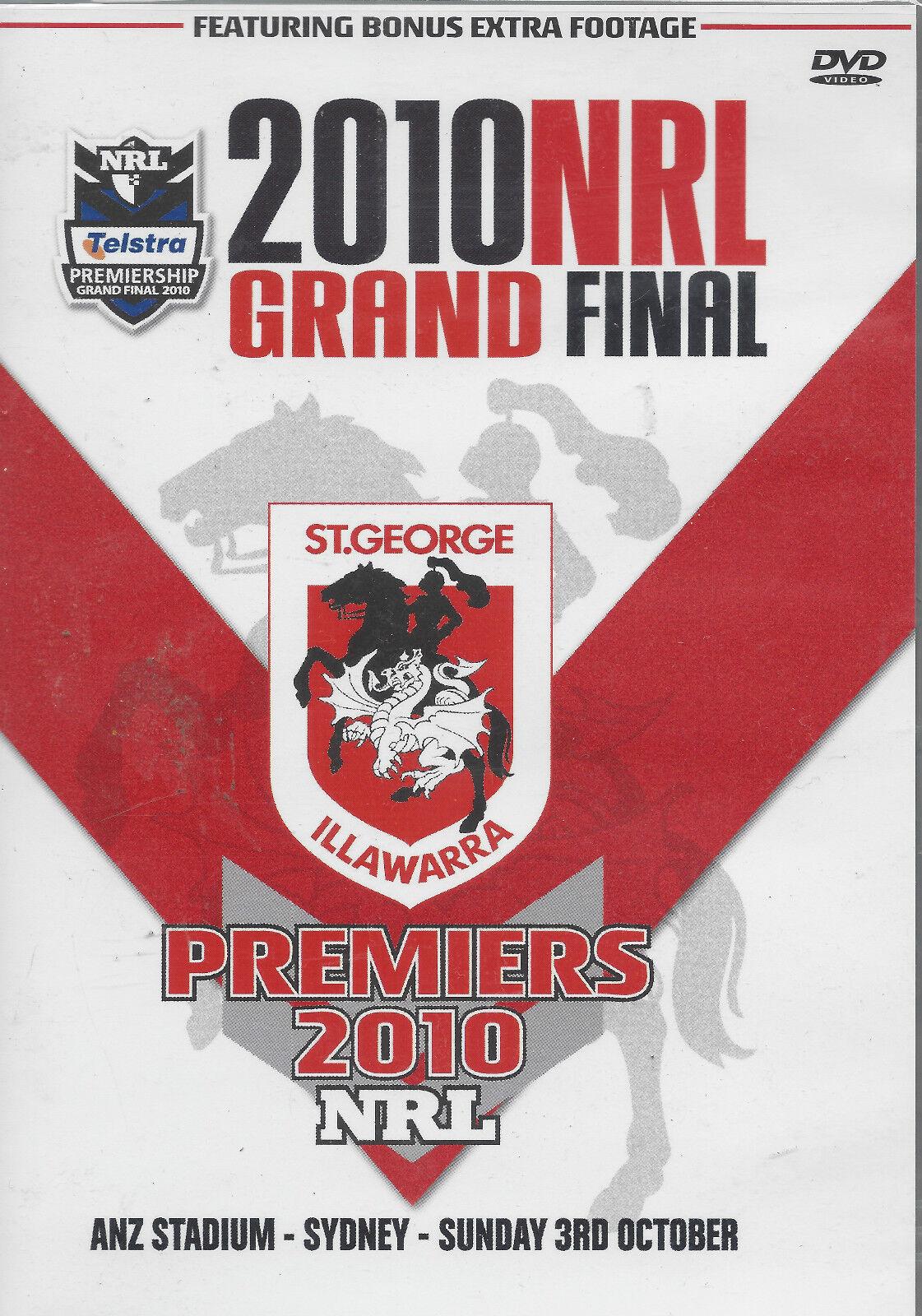 2010 NRL GRAND FINAL PREMIERS (DVD ...