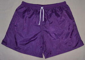 High-Five-Purple-Plain-Nylon-Soccer-Shorts-Men-039-s-Small