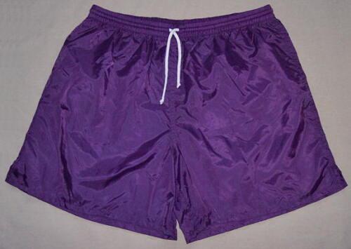 High Five Purple Plain Nylon Soccer Shorts Men/'s Small