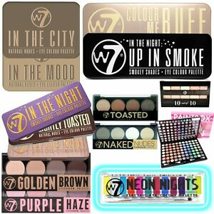 W7-Make-Up-Eye-Shadow-Palette-Choose-From-Many-Shades-Nude-Natural-Vibrant