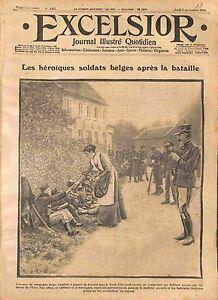 Soldats-Belges-Poilus-Bataille-de-l-039-Yser-Village-de-Belgique-WWI-1914