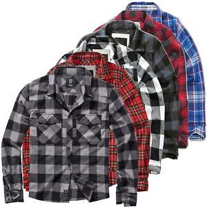 Brandit Check Shirt Holzfäller Hemd Flanell Woodcutter Karo Freizeithemd S-7XL