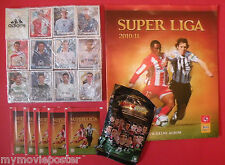 SUPER LEAGUE SERBIA FOOTBALL 2010/11 ALBUM + 100%  LOOSE SET + GIFTS NOT PANINI