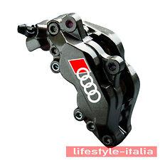 Bremssattel Aufkleber für Audi Ringe in WEISS Set 4 teilig im Kundenauftrag