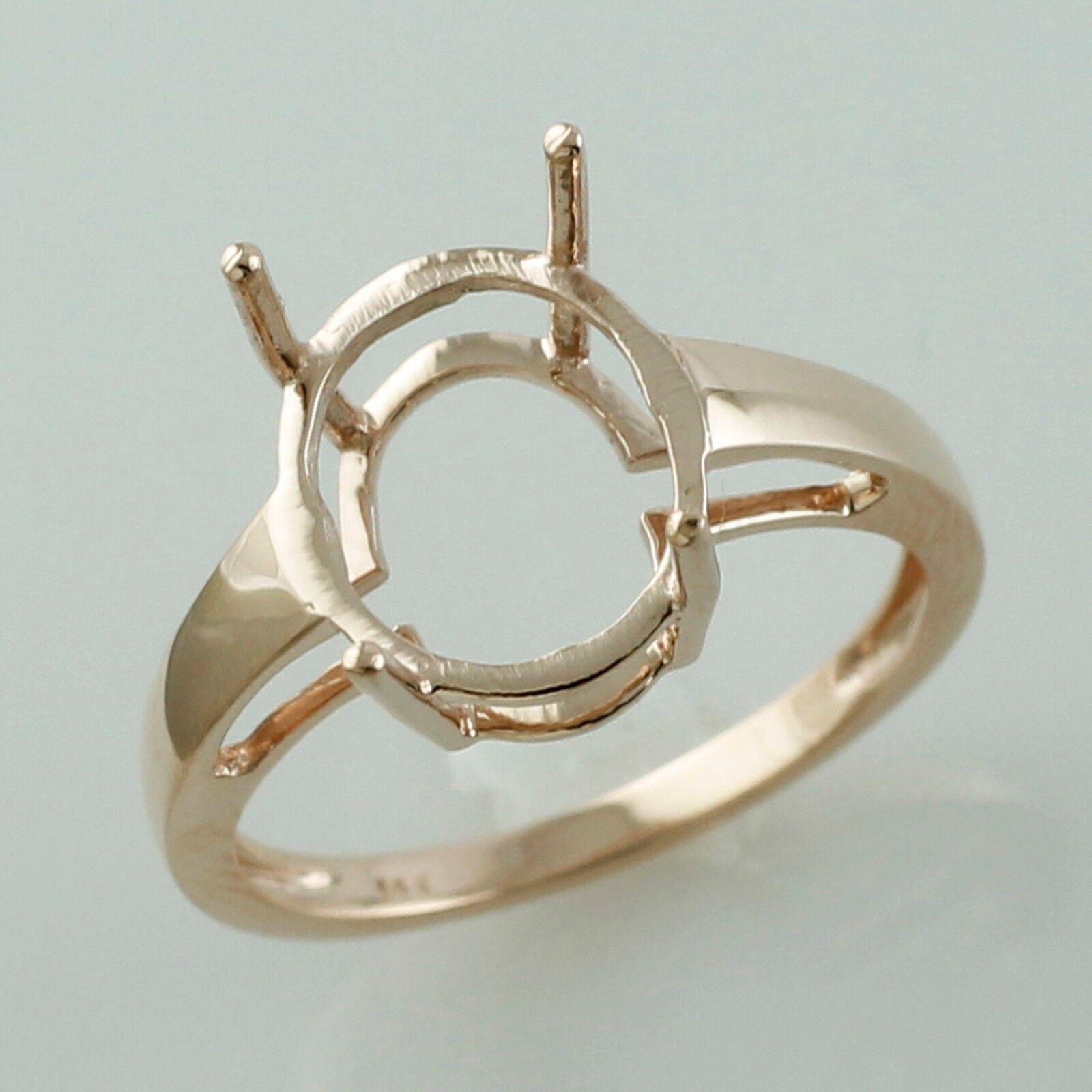 10x12 MM Semi Mount Ring Oval Shape gold Anniversary Wedding Women Gift Jewelry