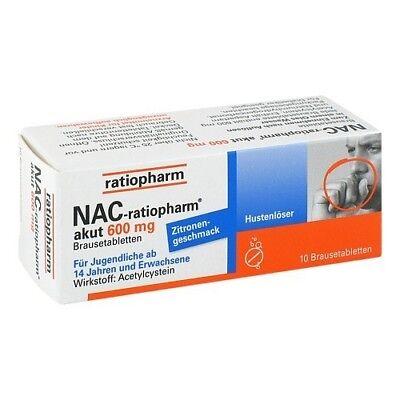 NAC ratiopharm akut 600mg Hustenloeser Br.Tabl. 10St PZN 06322992