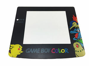POKEMON-REPLACEMENT-SCREEN-NINTENDO-GAMEBOY-COLOR-GBC-Lens-Adhesive-Back