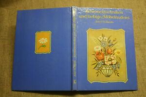 Buch-Malerei-auf-Bauernmoebel-Bauernmalerei-Moebelmalerei-Holzmalen-DDR-1983