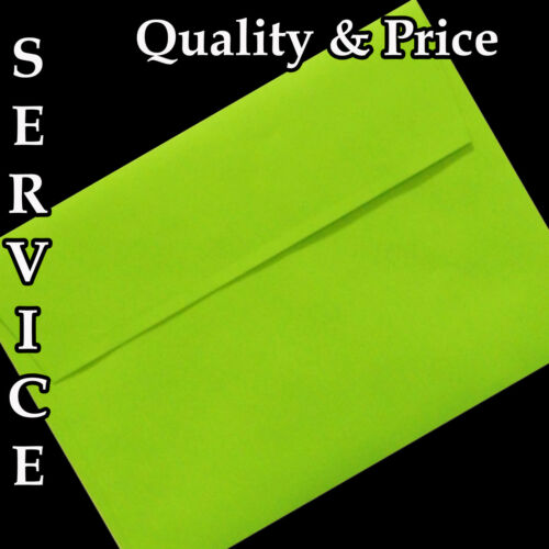 250 Envelopes for invites A7 Hot Pink 50 100 Red Lime Green A2 White A6
