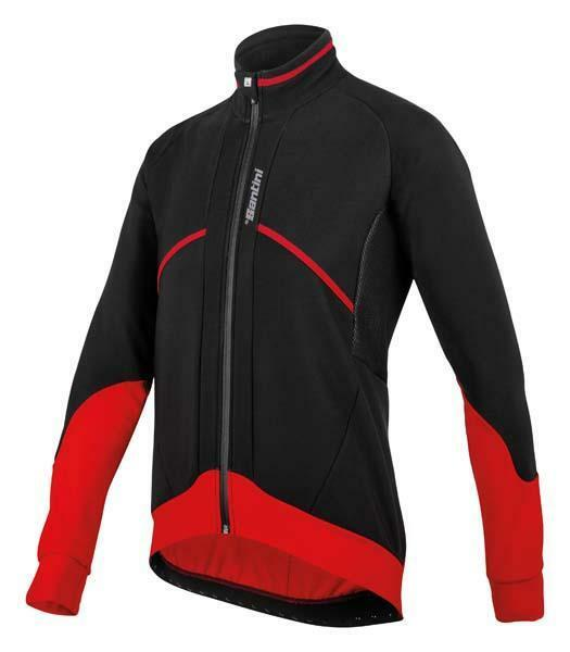 Brigand Winter Windproof Radfahren Jacket in rot Made in  by Santini