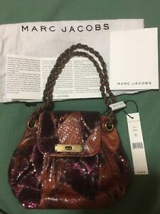 d3d54c2d183e Image is loading NWT-Authentic-Marc-Jacobs-Red-Python-Snakeskin-Sequin-