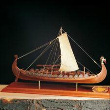 "Elegant, Detailed Wooden Model Ship Kit by Amati: the ""Drakkar Viking Longboat"""