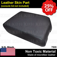 Leather Center Console Lid Armrest Cover Fits For Toyota Sequoia 2008-2015 Black