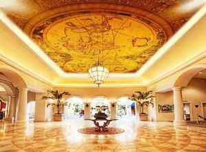 D Gold World Map Ceiling WallPaper Murals Wall Print Decal Deco AJ - Floor to ceiling world map