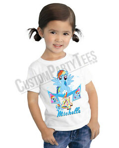 Image Is Loading My Little Pony Birthday Shirt Custom Name And