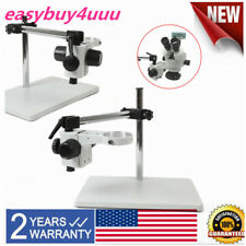 New Listing76mm Ring Lab Microscope Boom Stand Table Multi Axis 360 Stereo Focusing Holder
