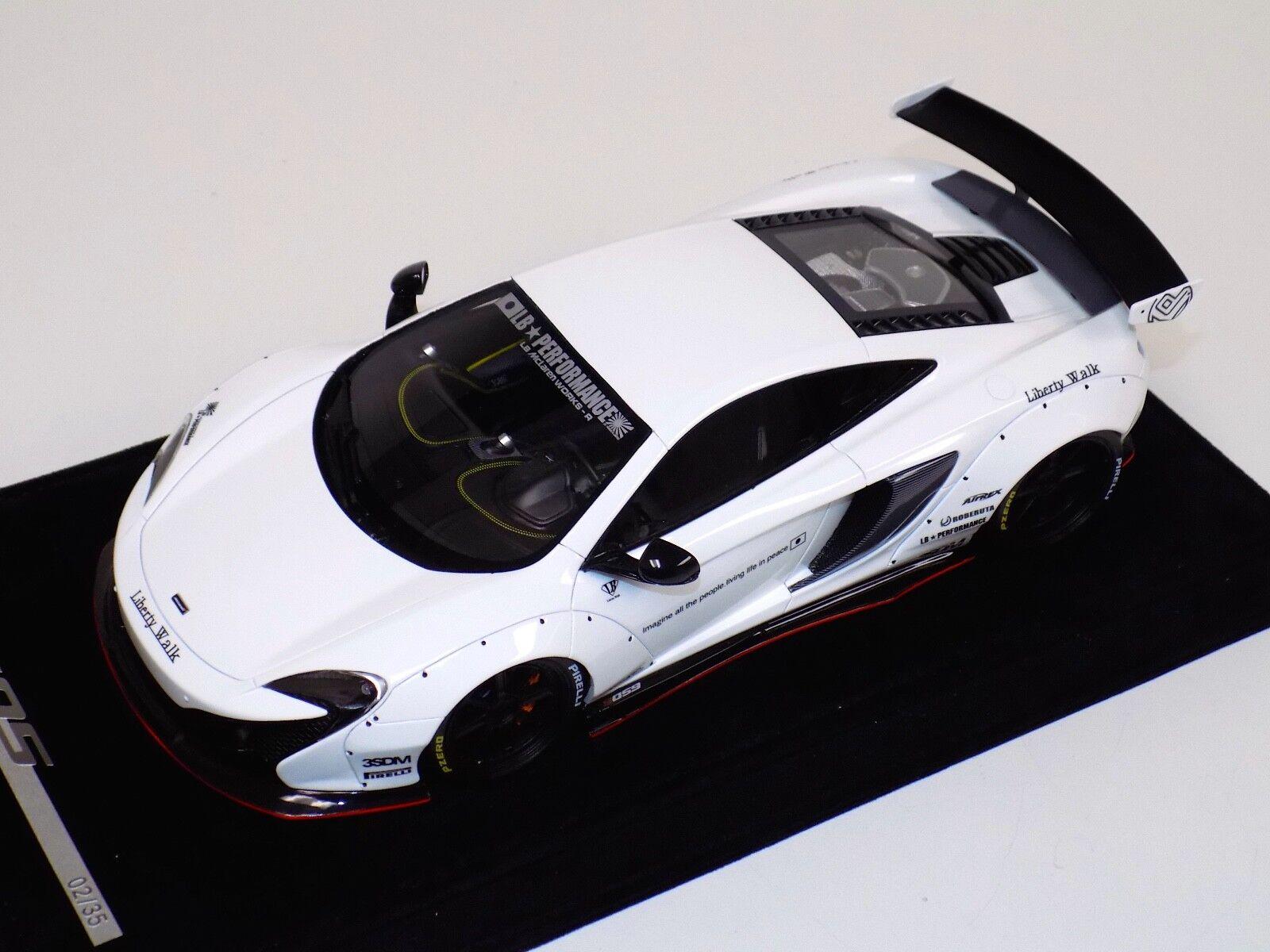 1 18 AB Models McLaren 650 S LB Performance Liberty walk Gloss bianca with decals
