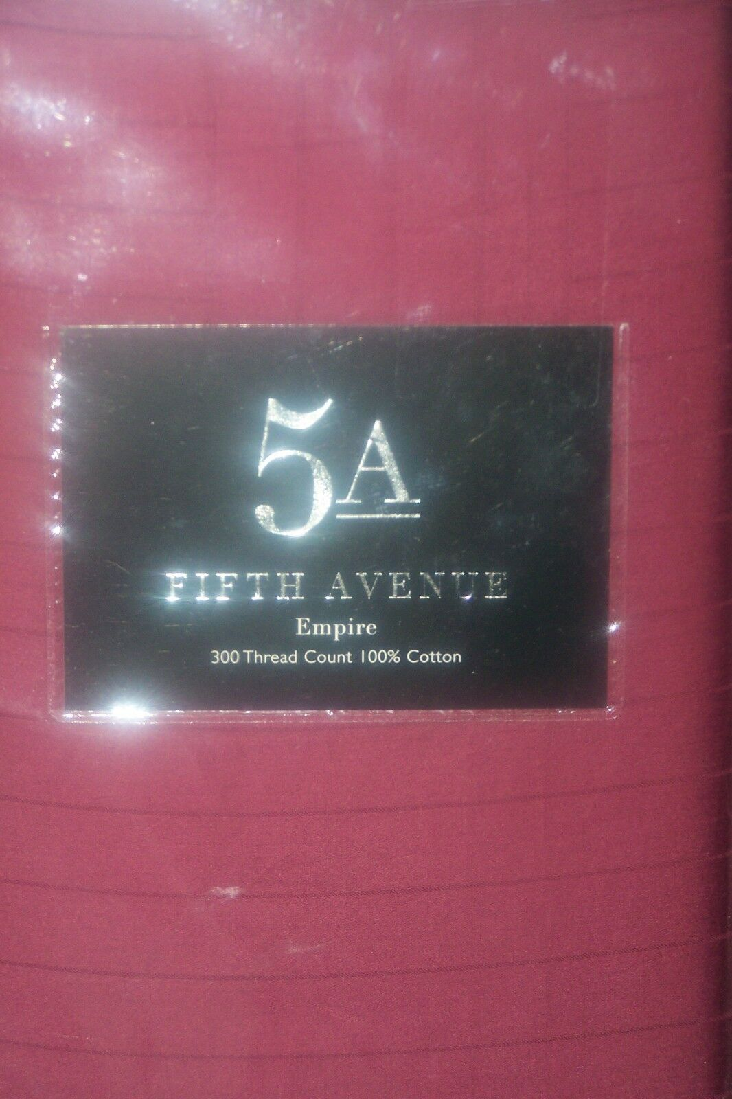 New 5A Fifth Avenue King Größe Duvet Quilt cover + 2 p cases...  Empire Burgandy