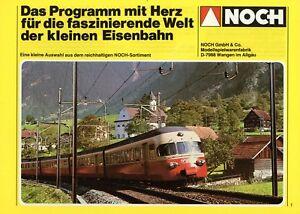 Noch-Programm-mit-Herz-Prospekt-1981-Modelleisenbahn-Zubehoer-brochure-model-rail