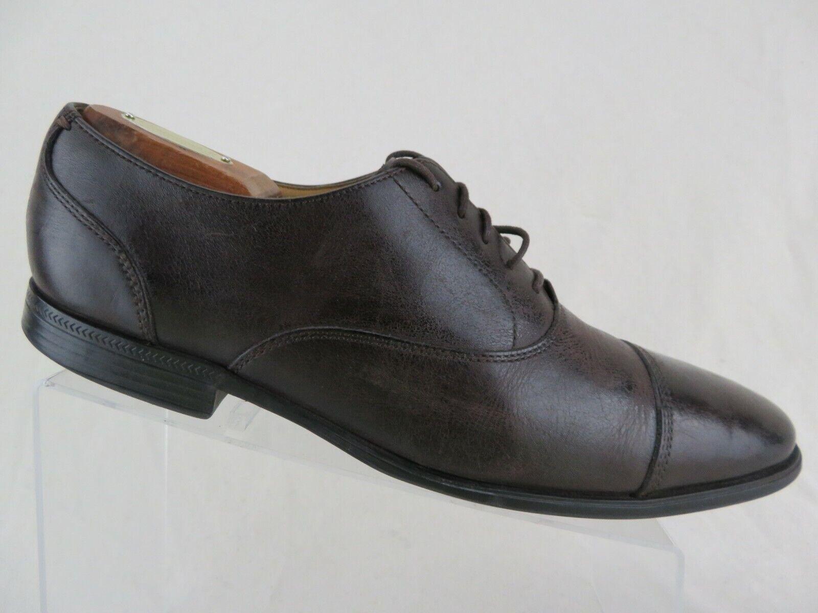 COLE HAAN Adams Cap-Toe Brown Sz 10 M Men Dress shoes Oxfords