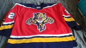 Image is loading Vintage-NHL-Florida-Panthers-Authentic-CCM-Sewn-Hockey- 2d74d2354