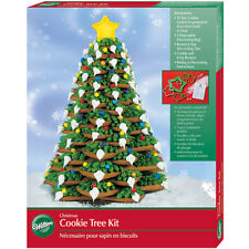 Wilton Make Your Own 3D Christmas Cookie Tree 10 Cutters 3 Icing Bags & 2 Tips