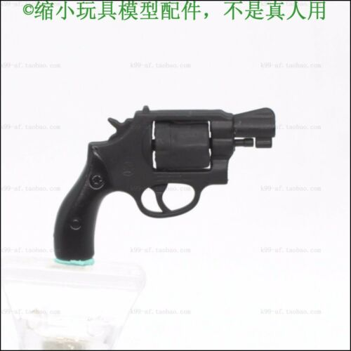 """1:6th Black Smith Wesson 38 Revolver Gun Model Toy For 12/""""Hot Toys Action"""