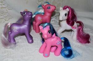 G3 My Little Pony CottonCandy,BabyMochanut,StrawberrySwirl,&Wysteria