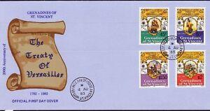 St-Vincent-Grenadines-FDC-200-Y-Contract-Versailles-Minr-260-263-1983-Esst