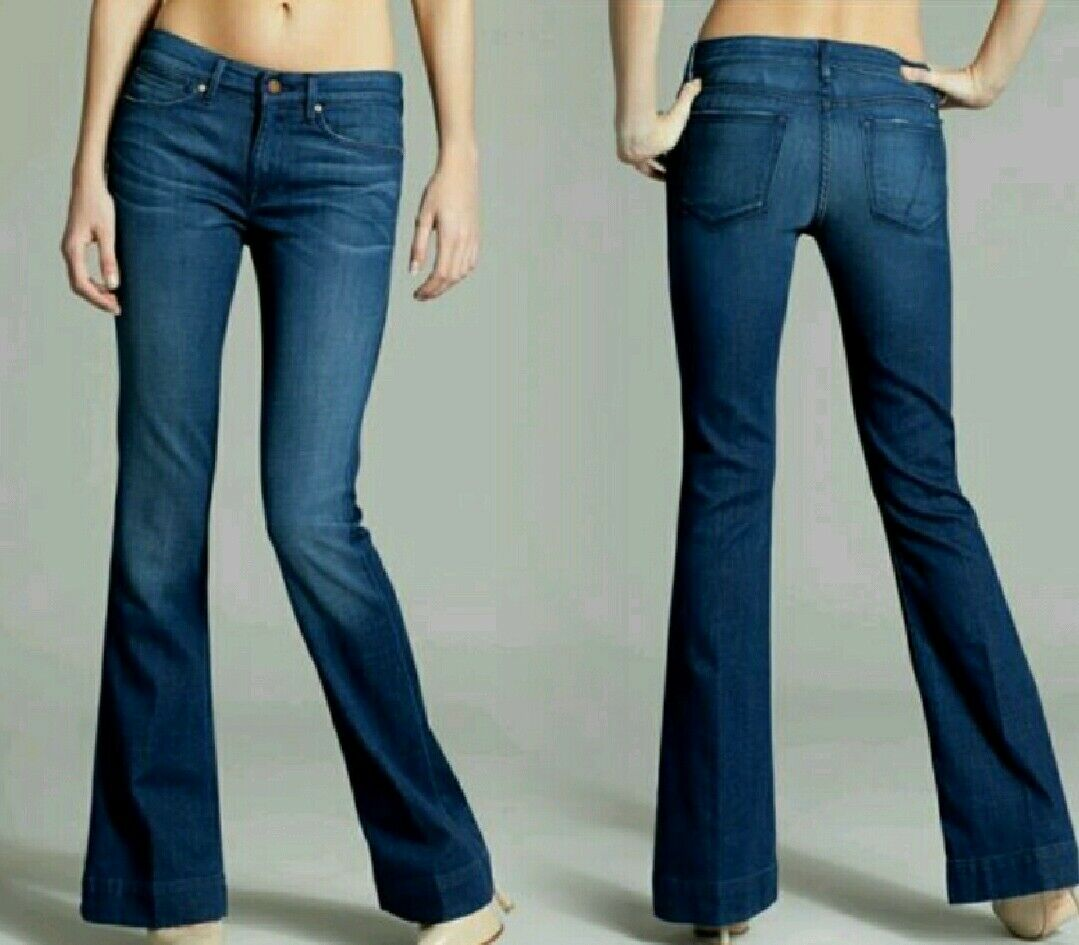 NWT Guess by Marciano Mid-Flare Jean No. 74 - Rich Vintage Wash size 23