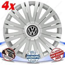SET 4 BORCHIE RUOTA COPRI CERCHI ACTIVE SILVER 15 VW POLO CLASSIC