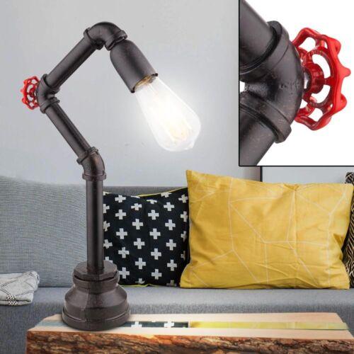 Retro Tisch Lampe Wohn Arbeits Zimmer Wasser Rohr Schalter Leuchte Big Light