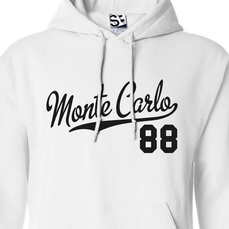 Monte Carlo 88 Script & Tail HOODIE - 1988 Niedrigrider Sweatshirt  All Größes Farbes