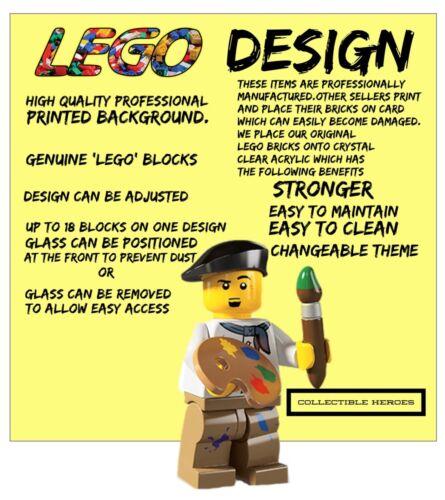LEGO MINIFIGURES DISPLAY CASE CORNICE STAR WARS REBEL ALLIANCE simbolo