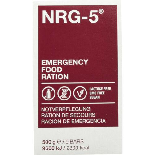 500 g Langzeitnahrung Notration Karton 12 kg NRG-5 Notverpflegung 24 Packungen