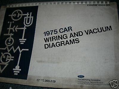 1975 MERCURY COUGAR WIRING DIAGRAMS SCHEMATICS   eBay