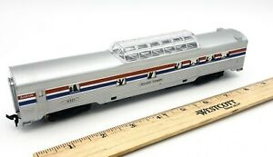 Life-Like-Ho-Scale-Train-AMTRAK-SILVER-TOWER-Coach-Car-RD-9321-Light-Function