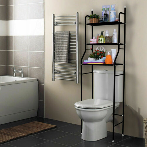 3 Tier Over Toilet Bathroom Space Saver Metal Towel Storage Rack Organizer US