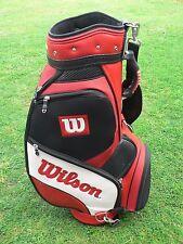 "Wilson 9.5"" Tour Bag Bag - Black/Red/White - Shop Soiled"