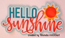 Summer sunshine  paper piecing title premade scrapbook page Rhonda rm613art