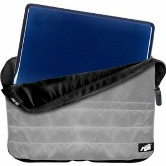 Maxell 191041 Quilted Reversible Notebook Sleeve Gray/Black