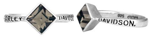 Black Ice Diamond Shape Crystal Ring HDR0361 Harley-Davidson Women/'s Ring